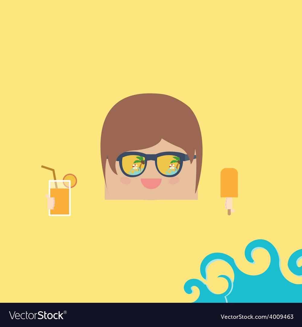 Cartoon doodle businessman rectangle relaxing vector | Price: 1 Credit (USD $1)