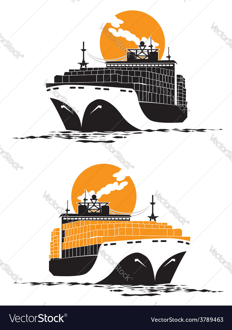 Containership vector | Price: 3 Credit (USD $3)
