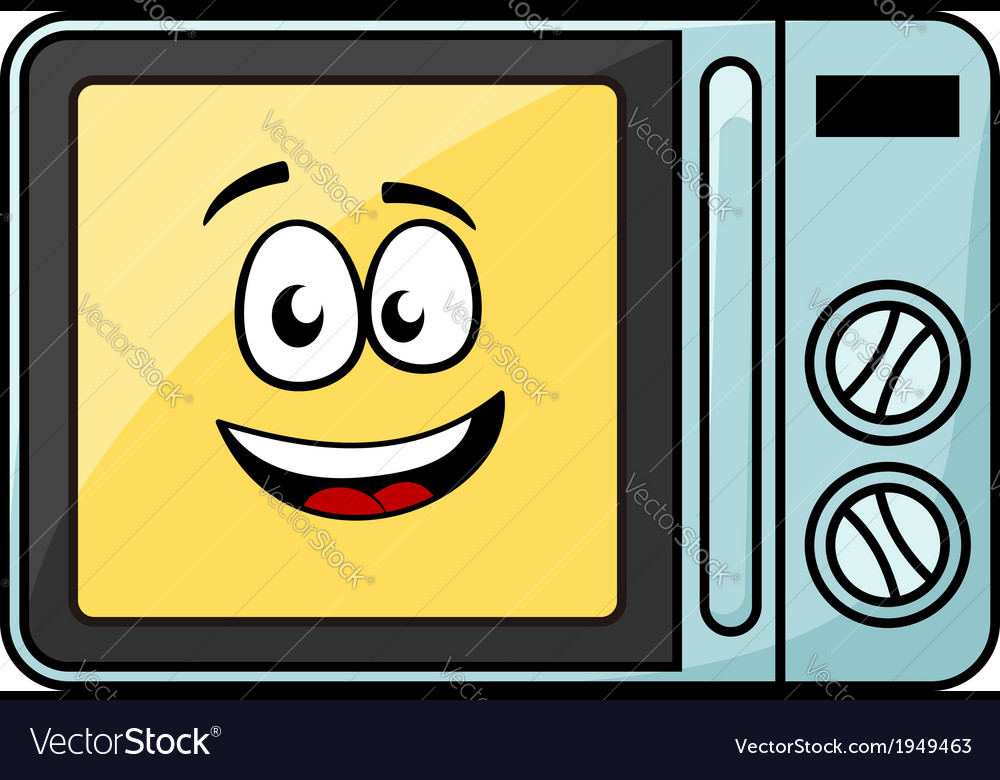 Cute cartoon microwave oven vector | Price: 1 Credit (USD $1)