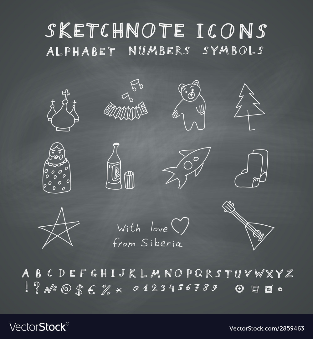 Doodle russian icons vector | Price: 1 Credit (USD $1)