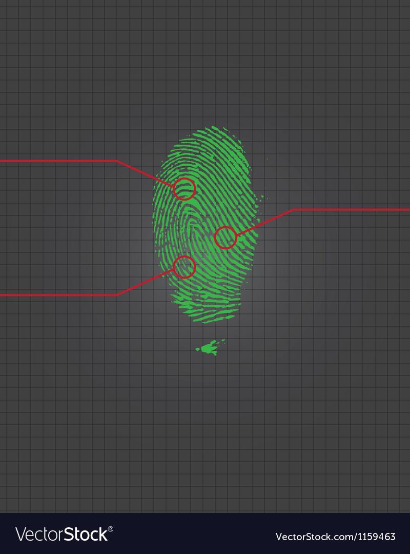 Fingerprint vector | Price: 1 Credit (USD $1)