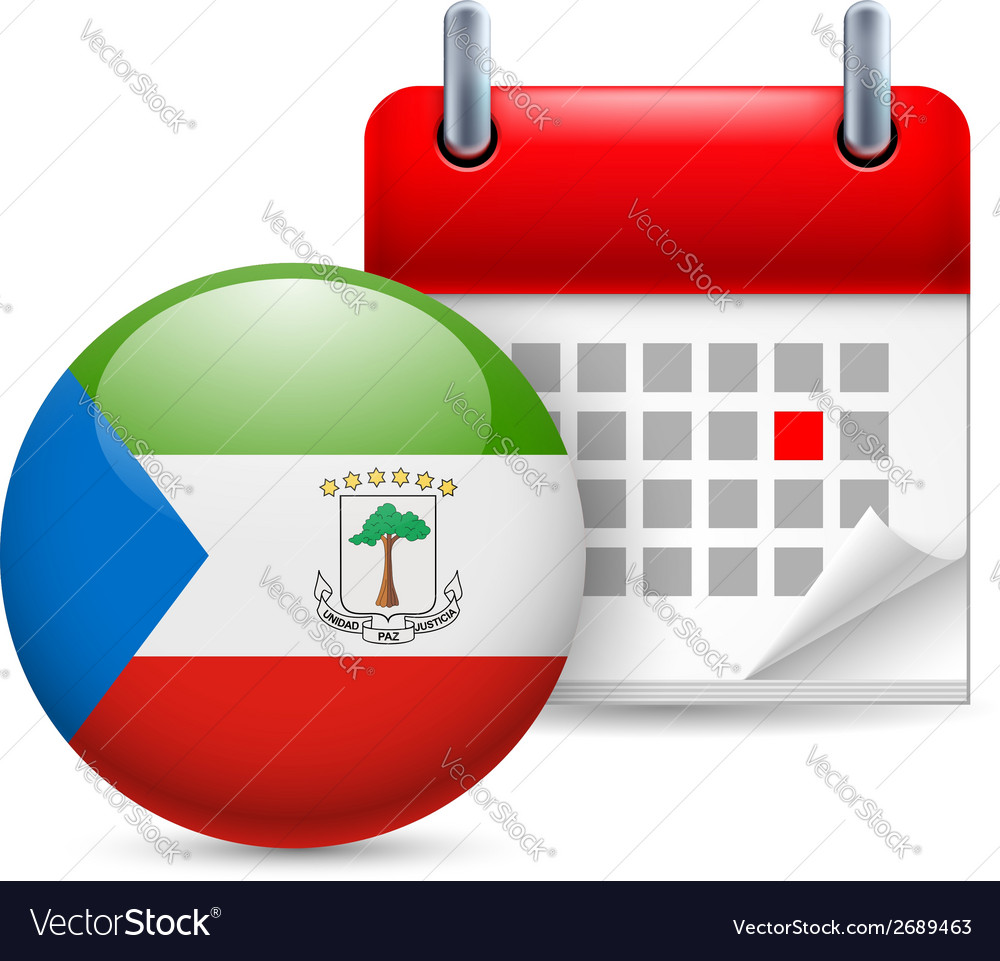 Icon of national day in equatorial guinea vector | Price: 1 Credit (USD $1)
