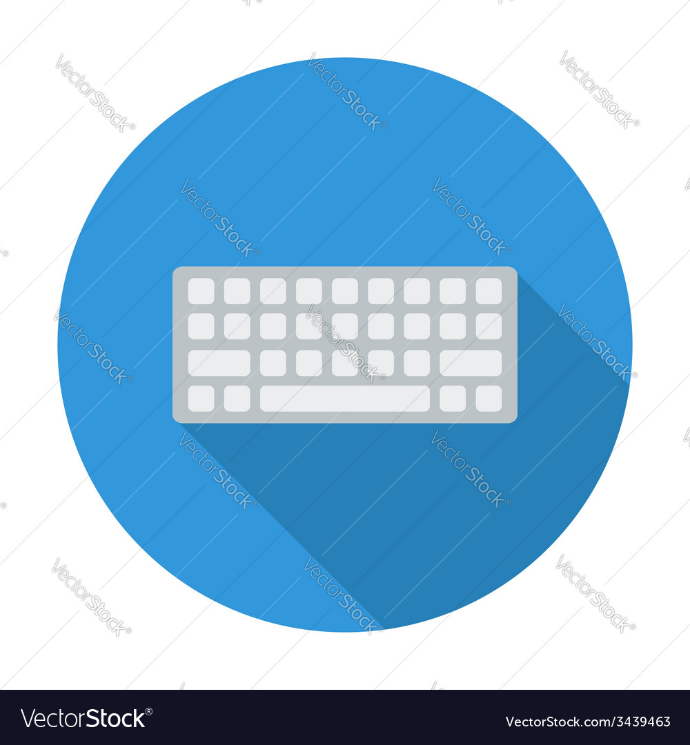 Keyboard flat icon vector | Price: 1 Credit (USD $1)