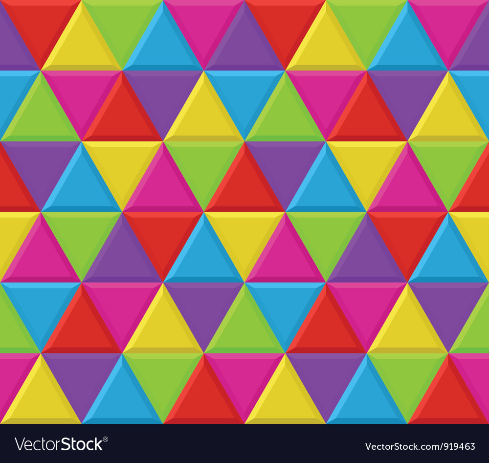 Multicolored triangles seamless background pattern vector | Price: 1 Credit (USD $1)