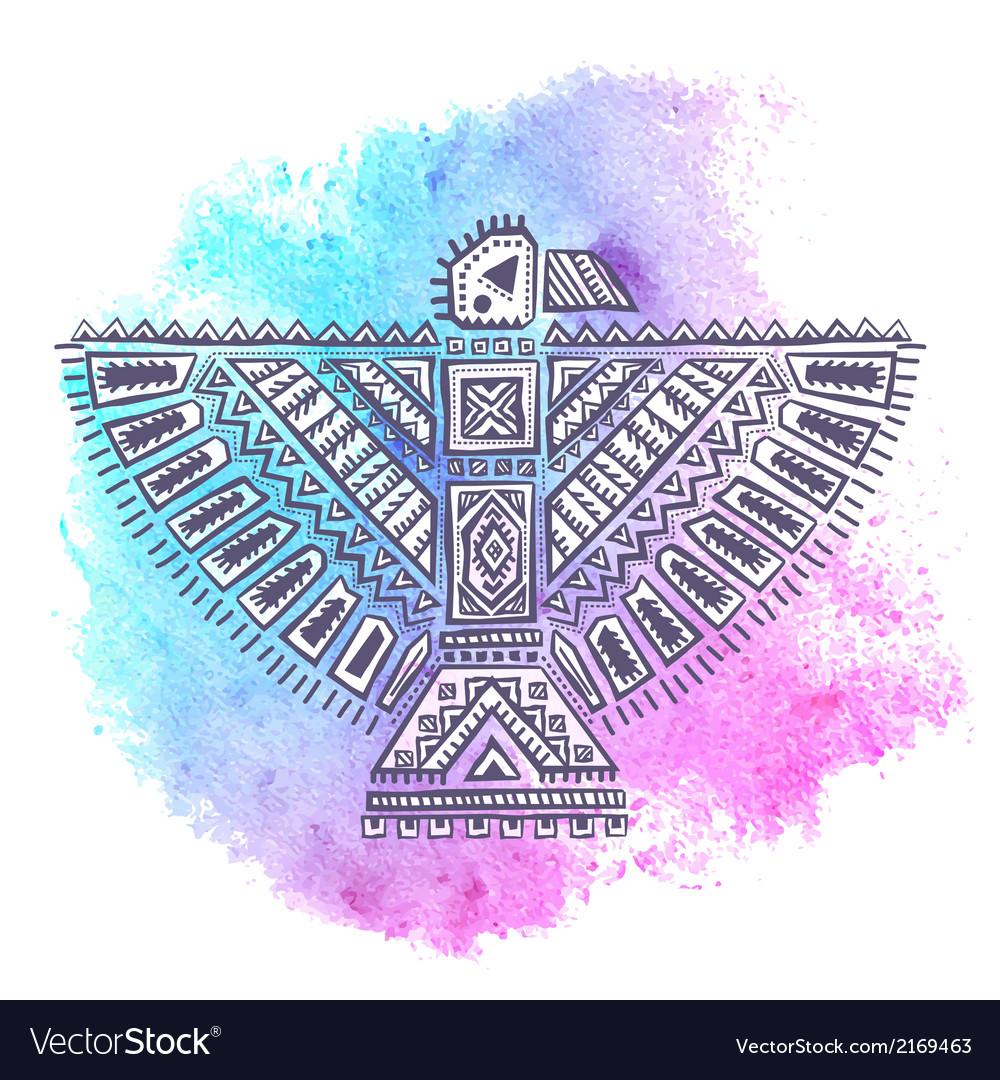 Native american eagle vector | Price: 1 Credit (USD $1)