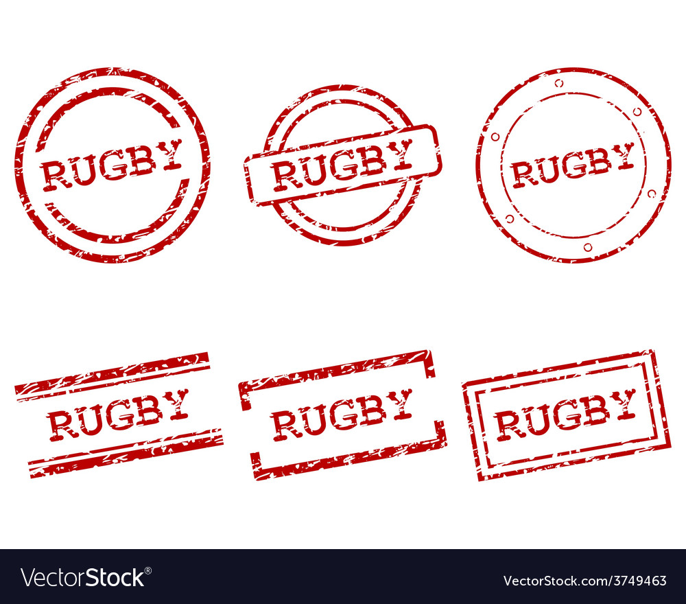 Rugby stamps vector | Price: 1 Credit (USD $1)