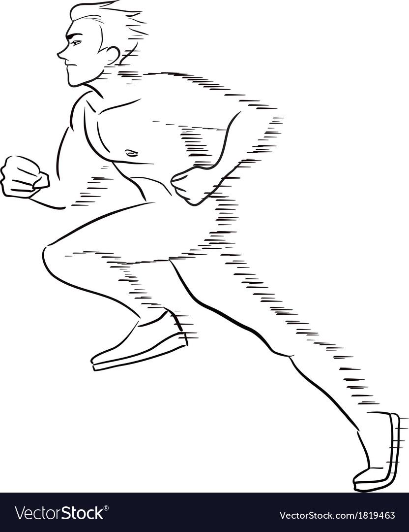 Symbolic running man vector | Price: 1 Credit (USD $1)