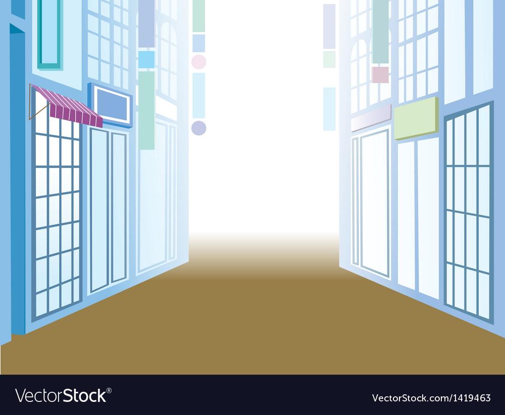 Town street scene vector | Price: 1 Credit (USD $1)