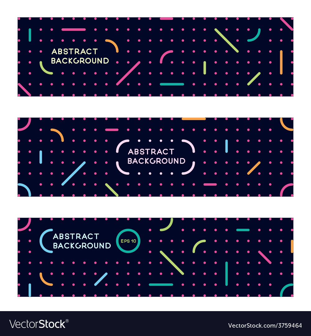 Banners with an abstract modern pattern against a vector | Price: 1 Credit (USD $1)