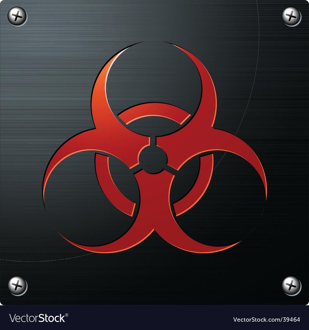Biohazard sign vector   Price: 1 Credit (USD $1)