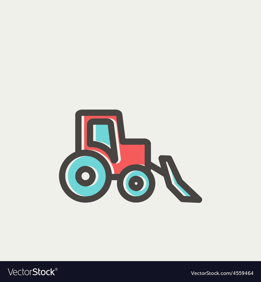 Bulldozer thin line icon vector   Price: 1 Credit (USD $1)