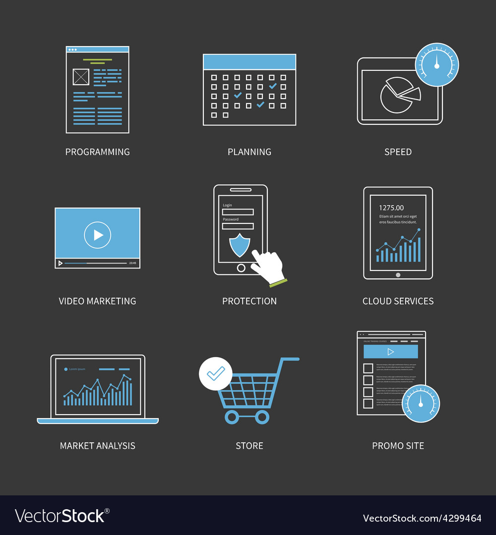 Flat design modern concept for vector | Price: 1 Credit (USD $1)
