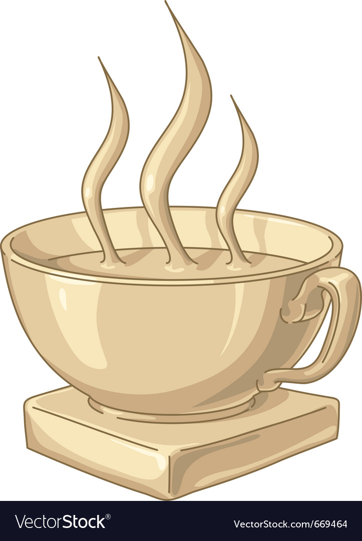 Golden coffee cup vector | Price: 3 Credit (USD $3)