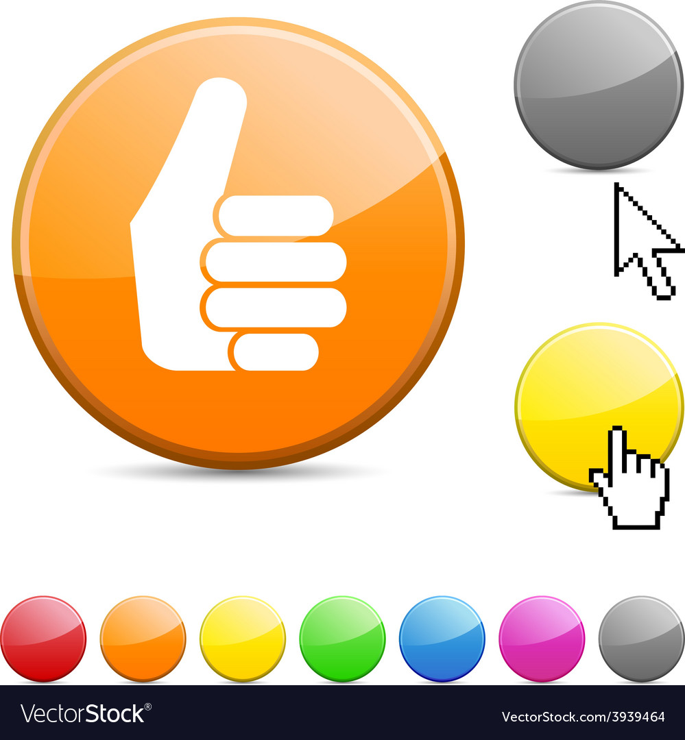 Good glossy button vector | Price: 1 Credit (USD $1)