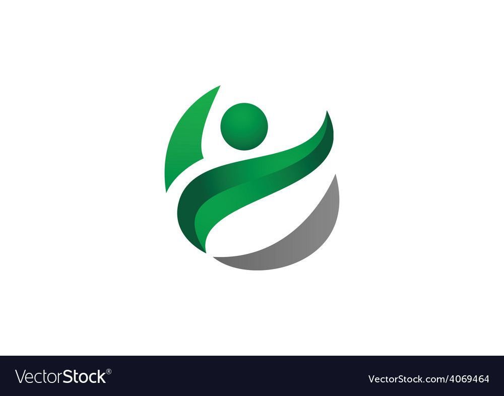 Green people ecology logo vector | Price: 1 Credit (USD $1)