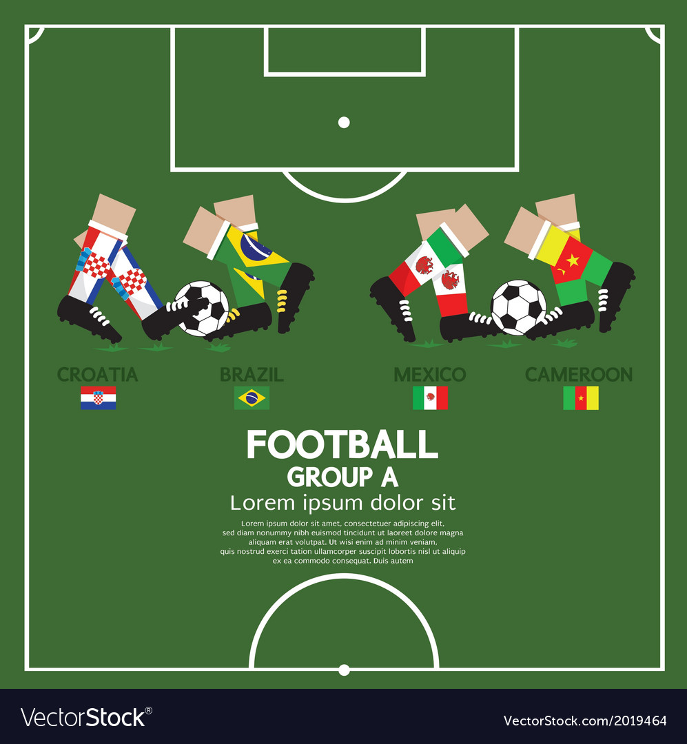 Group a football tournament vector | Price: 1 Credit (USD $1)