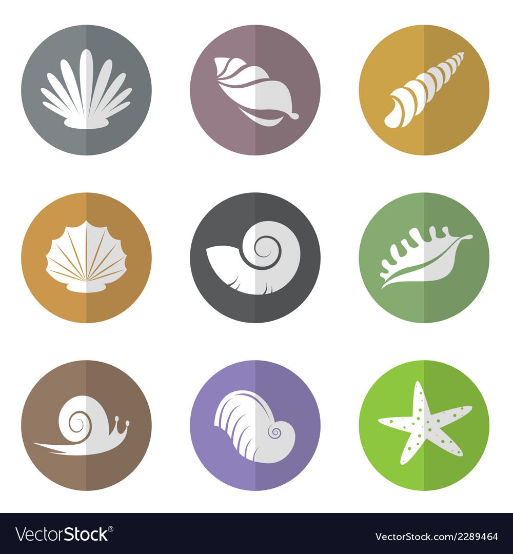 Group of shellfish in the circle vector | Price: 1 Credit (USD $1)