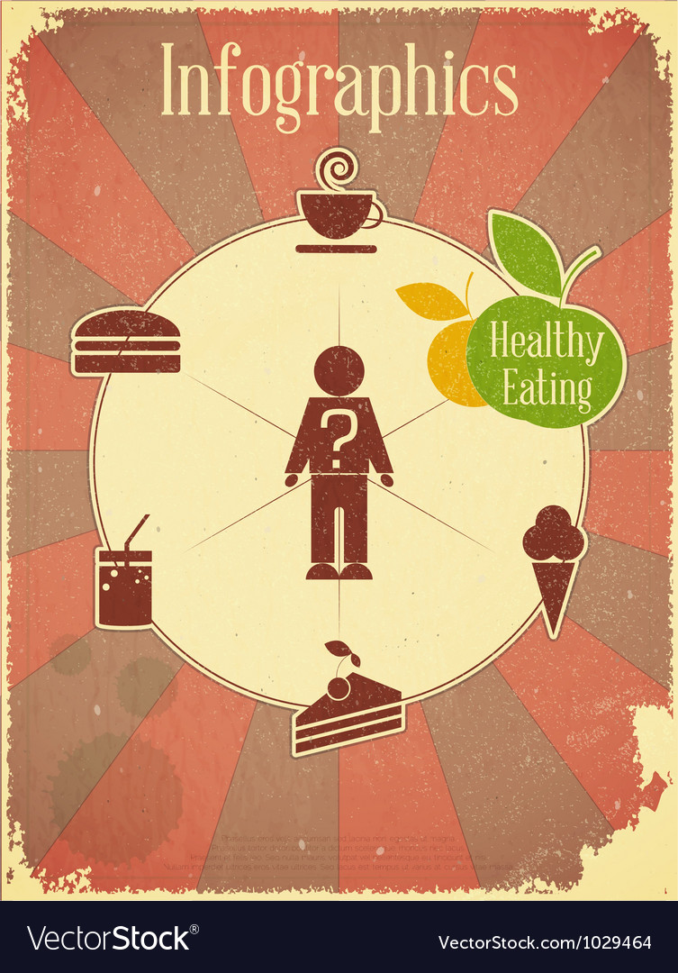 Healthy eating vector | Price: 1 Credit (USD $1)