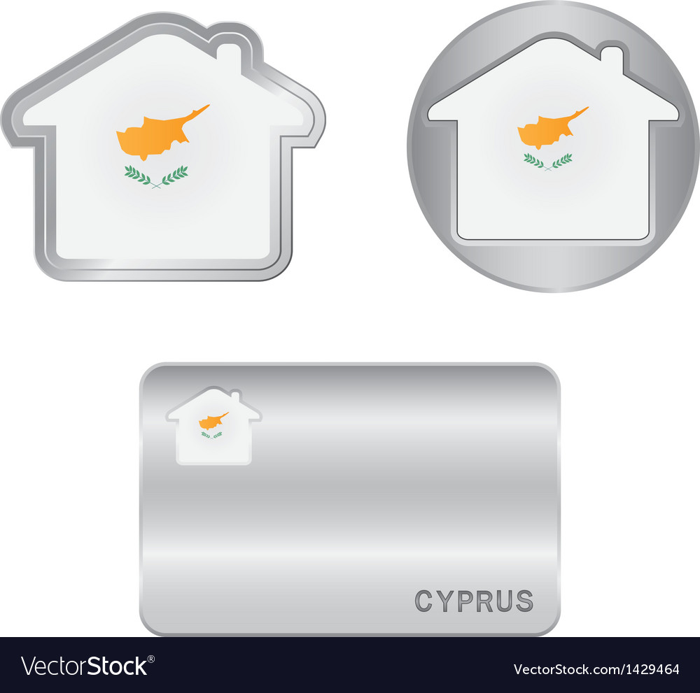 Home icon on the cyprus flag vector | Price: 1 Credit (USD $1)