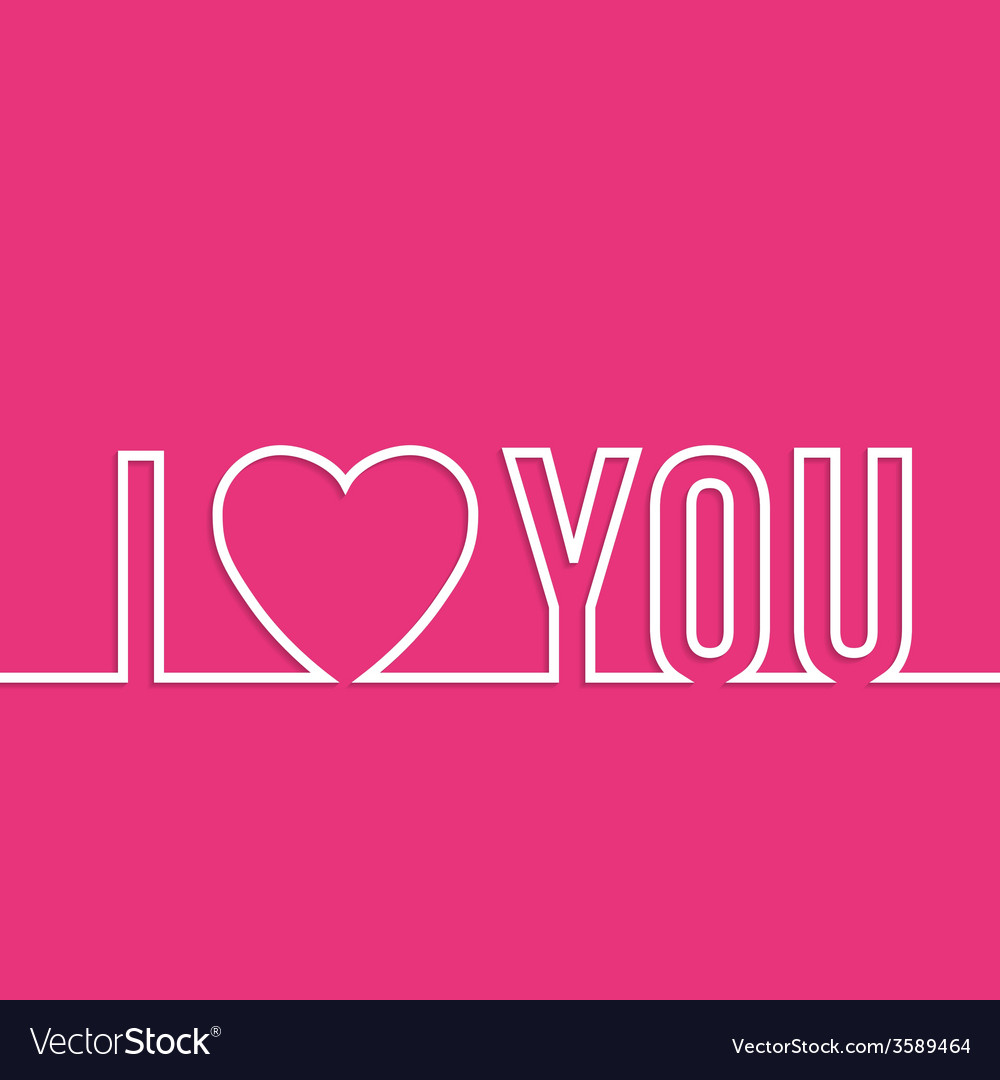 Lettering i love you vector | Price: 1 Credit (USD $1)