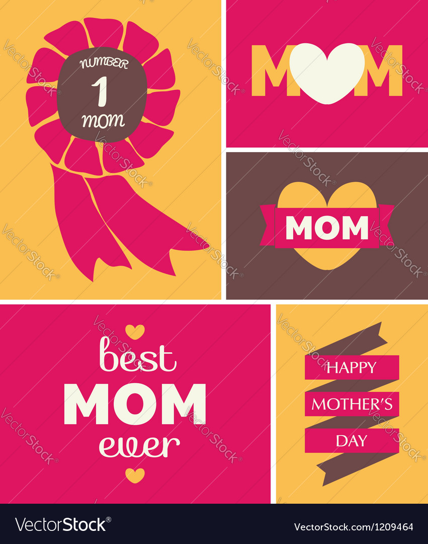 Mothers day greeting card vector | Price: 3 Credit (USD $3)