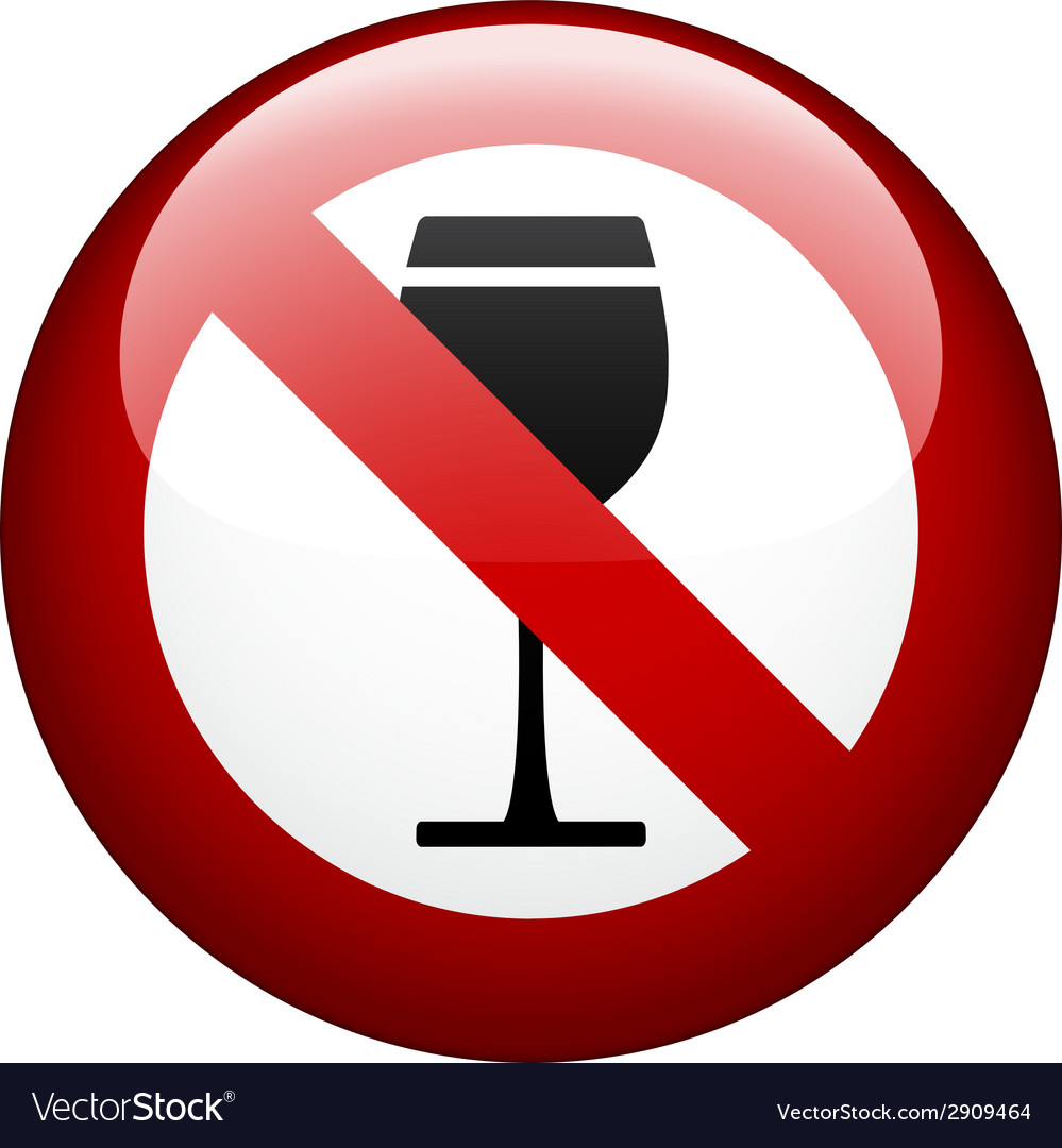 No alcohol mark vector | Price: 1 Credit (USD $1)