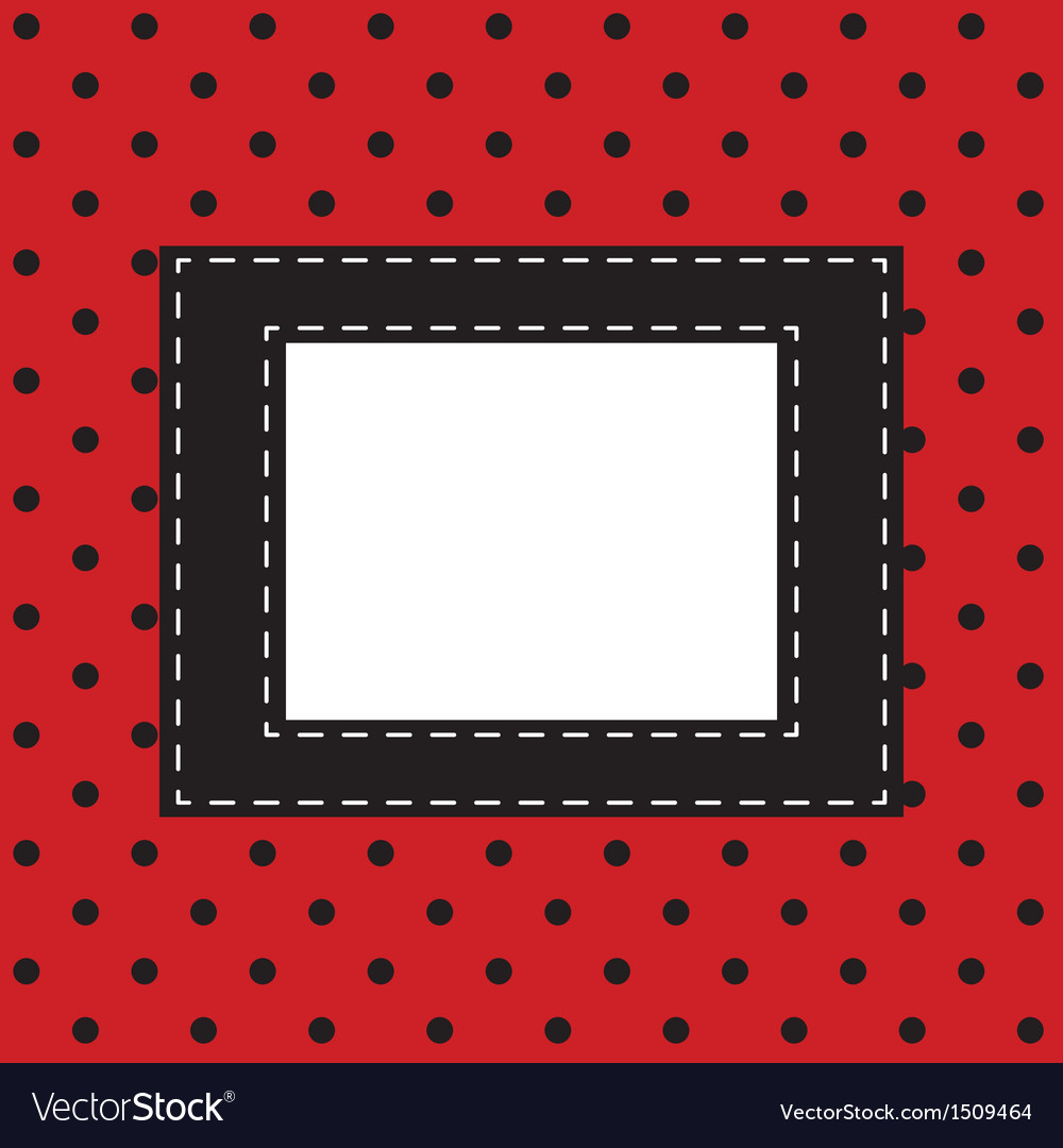 Red background with black polka dots vector | Price: 1 Credit (USD $1)