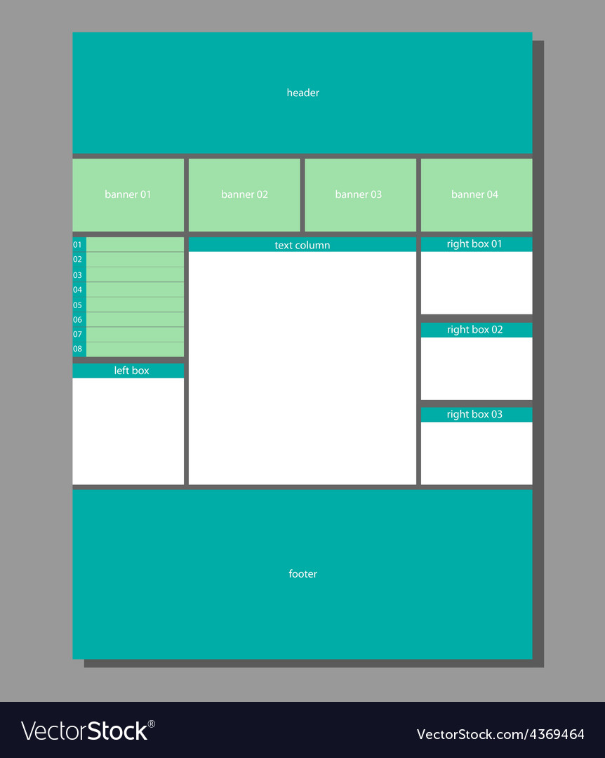 Website layout vector | Price: 1 Credit (USD $1)