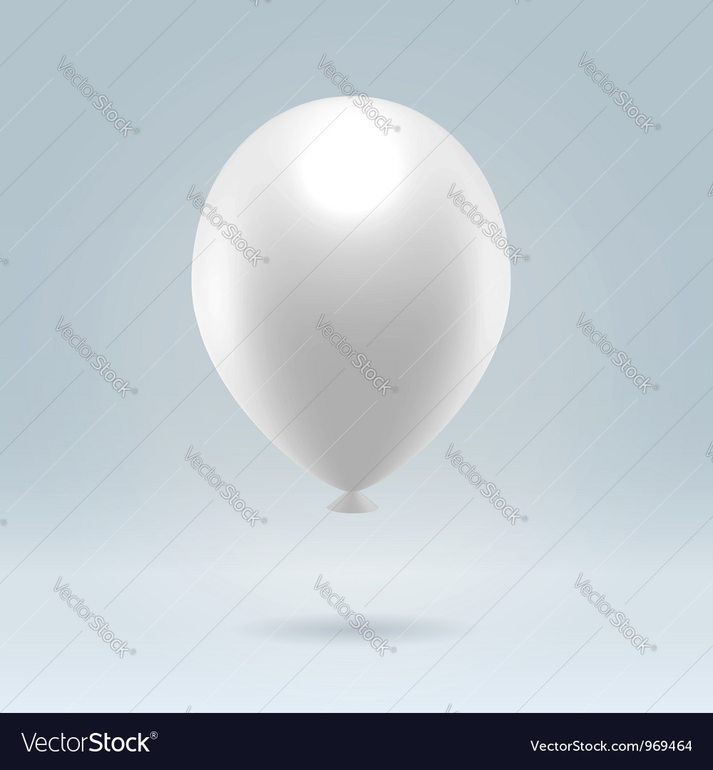 White balloon vector | Price: 1 Credit (USD $1)