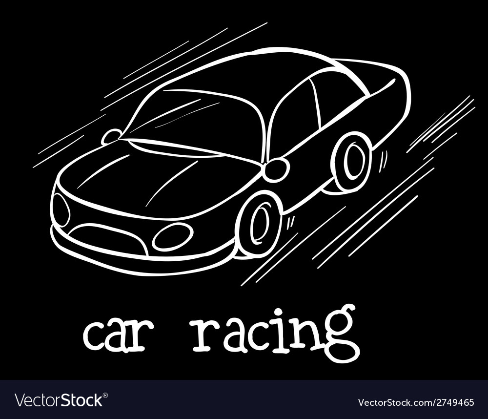 A car racing vector | Price: 1 Credit (USD $1)