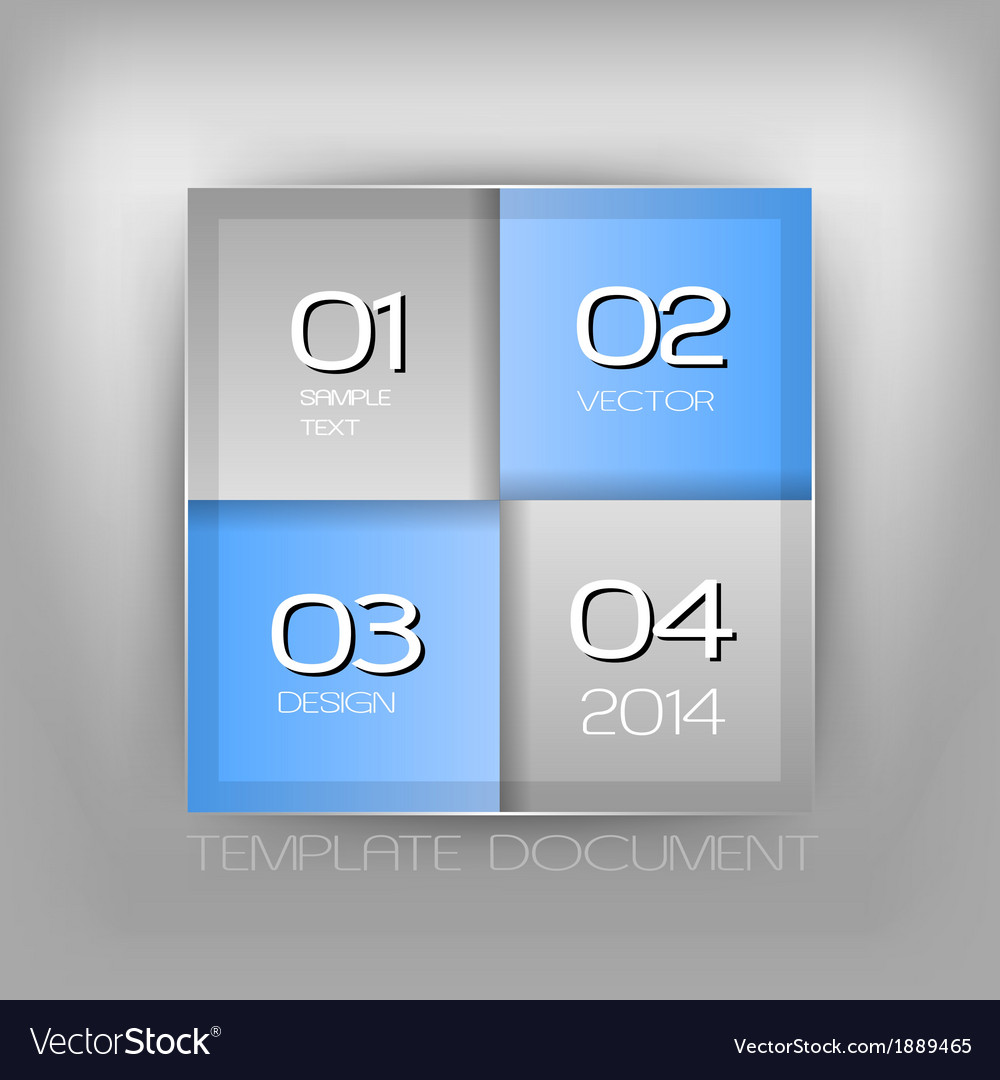 Business four squares blue with text vector   Price: 1 Credit (USD $1)