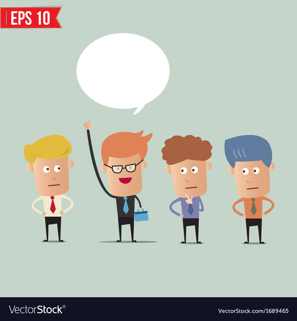 Business man raise hand - - eps10 vector | Price: 1 Credit (USD $1)