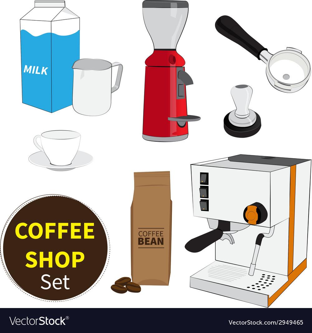Coffee shop set vector | Price: 1 Credit (USD $1)