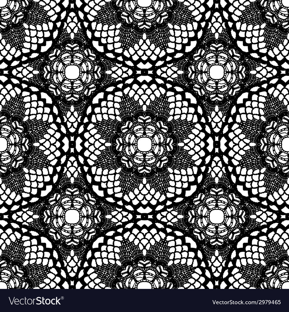 Lace black seamless mesh pattern vector   Price: 1 Credit (USD $1)