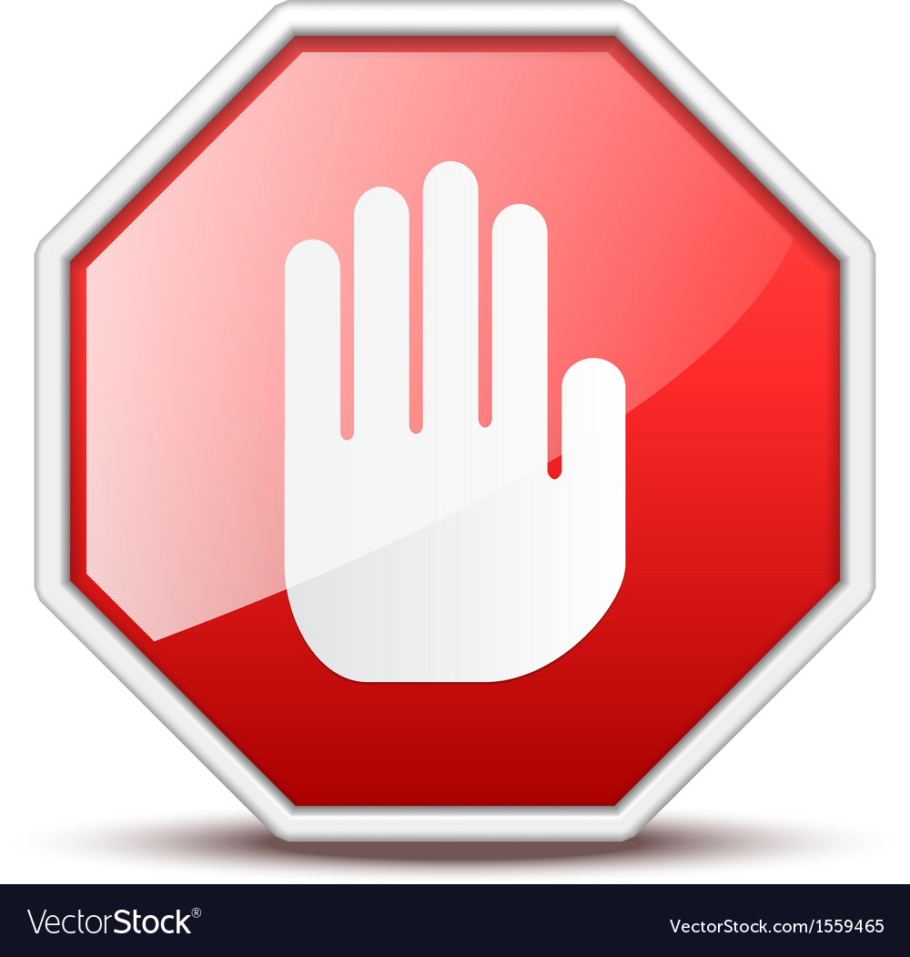 No entry hand sign vector | Price: 1 Credit (USD $1)