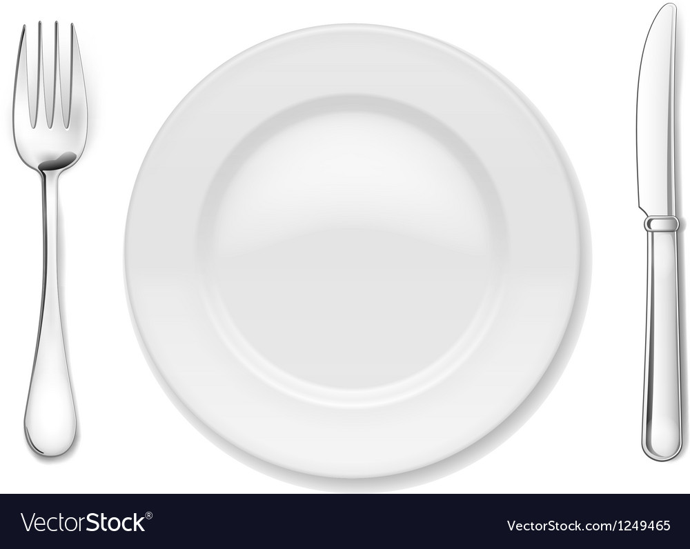 Plate with cutlery vector | Price: 3 Credit (USD $3)