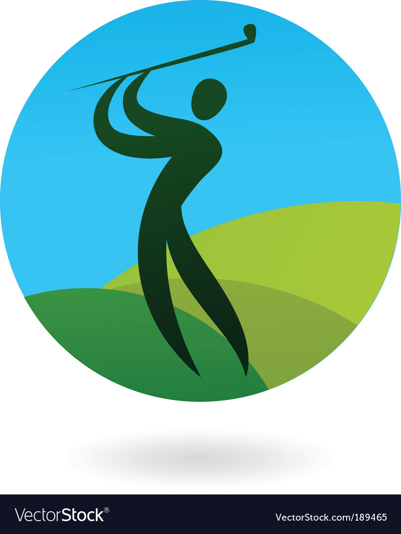 Sport silhouette series golf vector | Price: 1 Credit (USD $1)