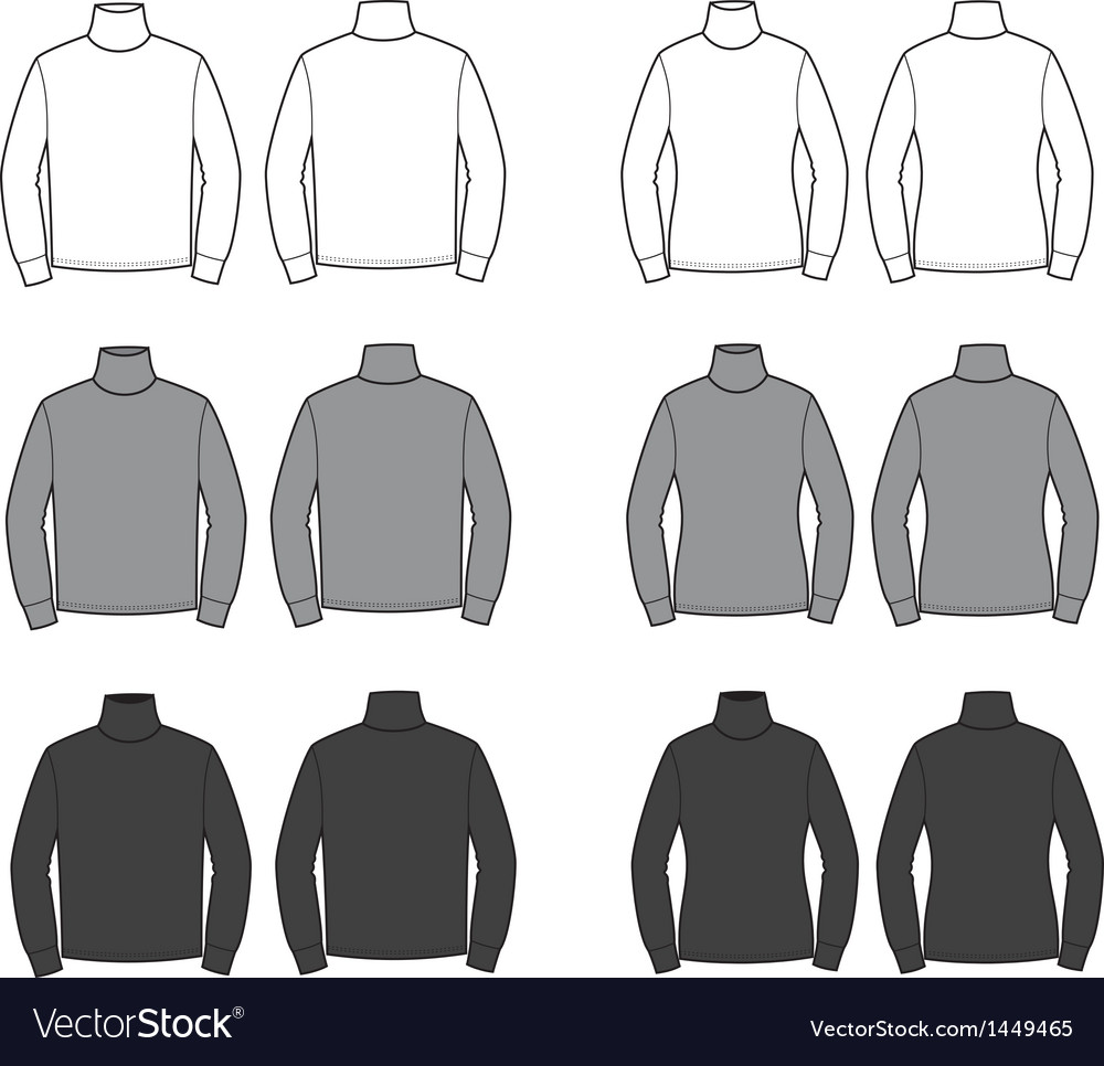 Turtlenecks vector | Price: 1 Credit (USD $1)