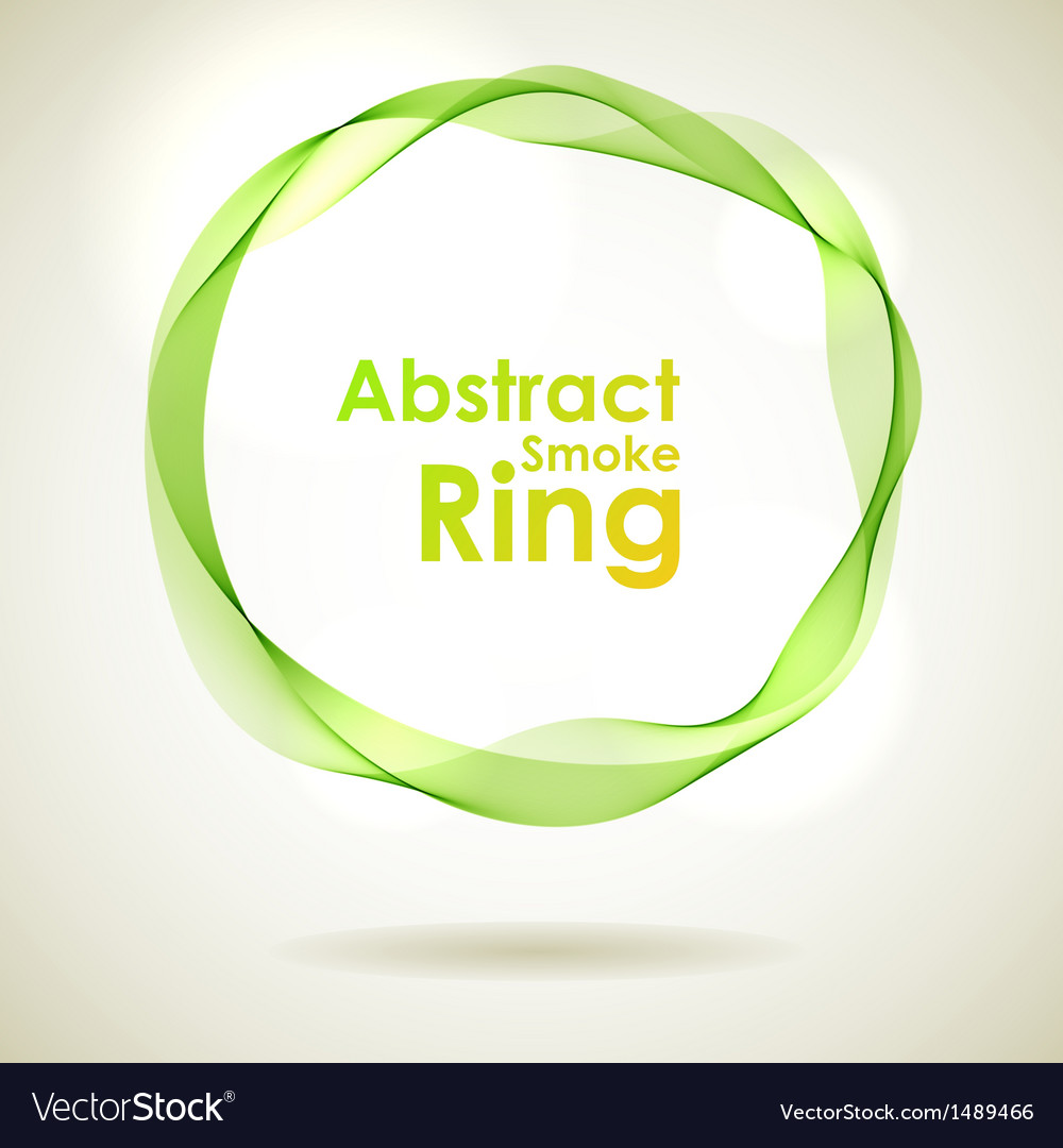 Abstract green smoke ring design element vector | Price: 1 Credit (USD $1)