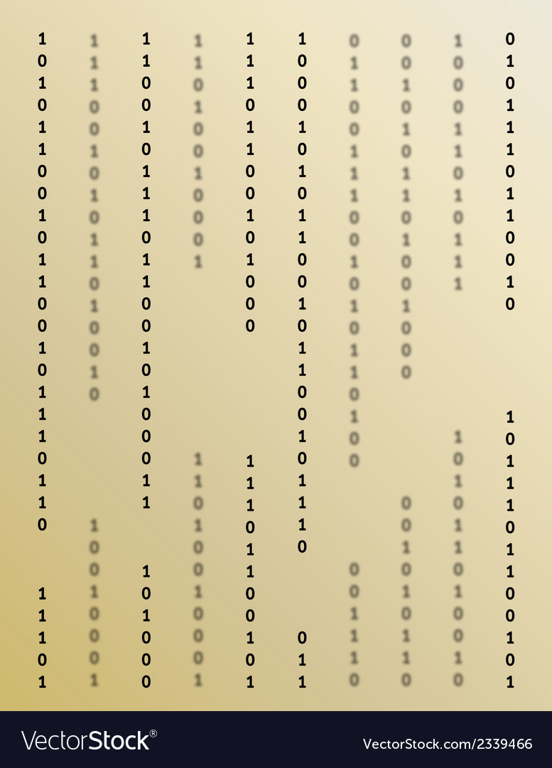 Binary background vector | Price: 1 Credit (USD $1)