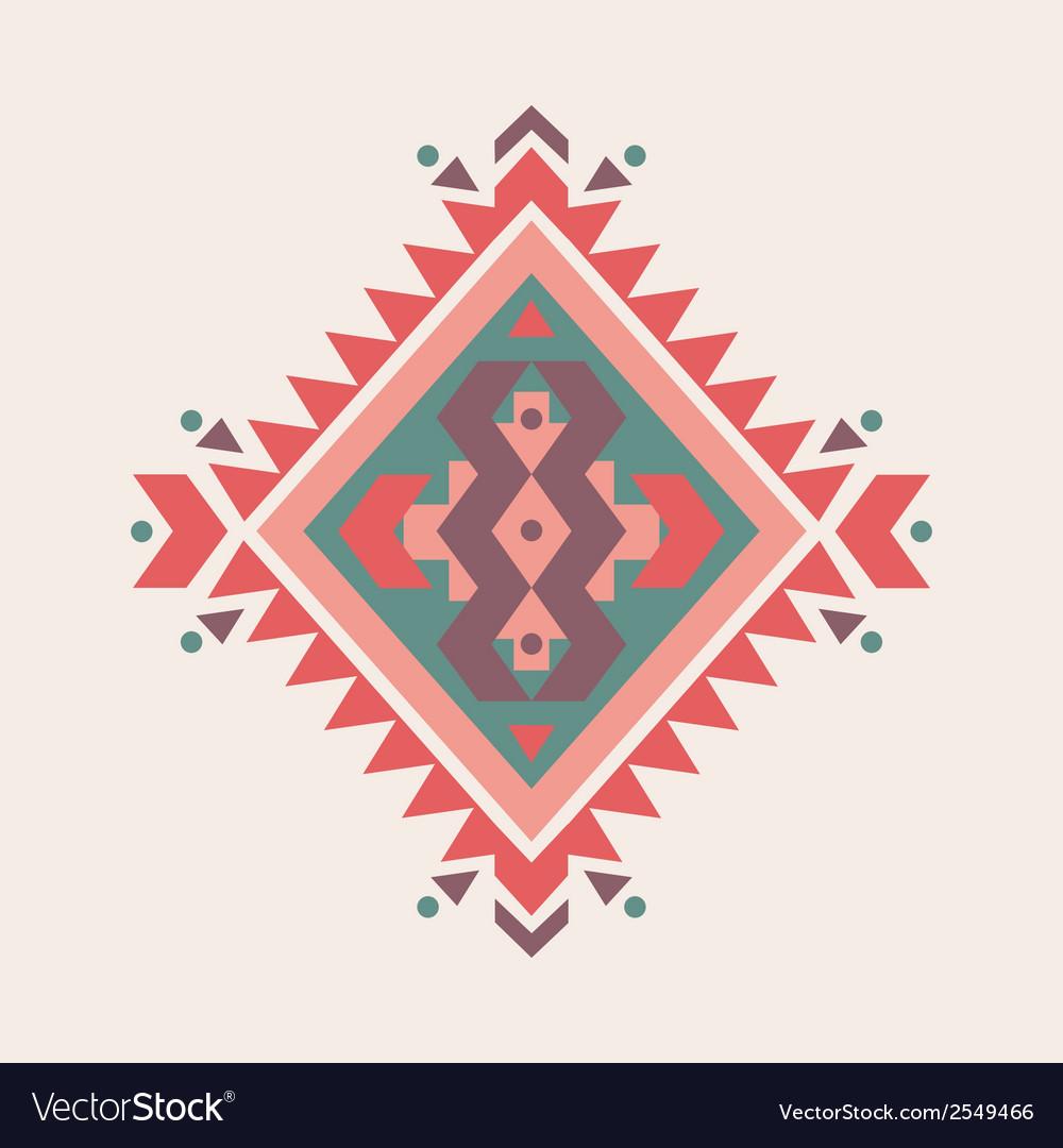 Colorful decorative ethnic pattern vector   Price: 1 Credit (USD $1)