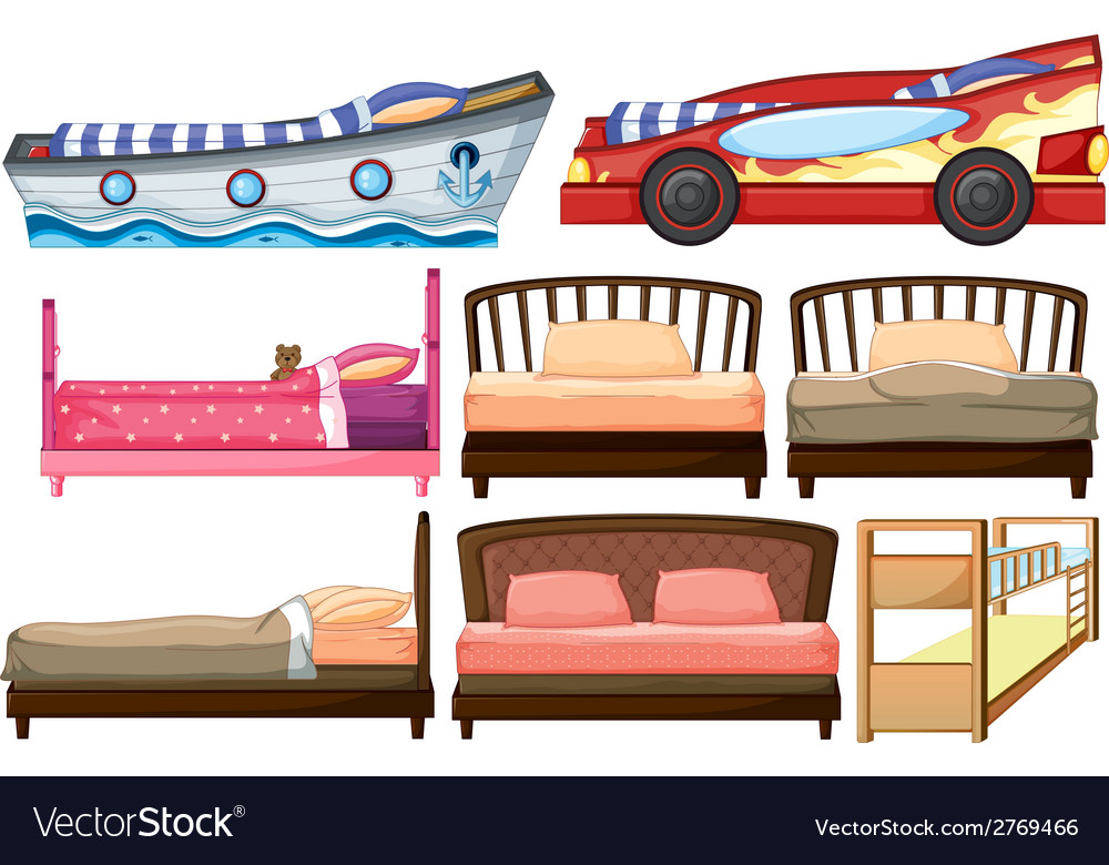 Different bed designs vector | Price: 1 Credit (USD $1)