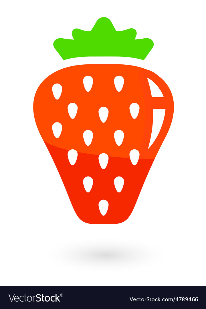 Fruit icon with isolated strawberries vector