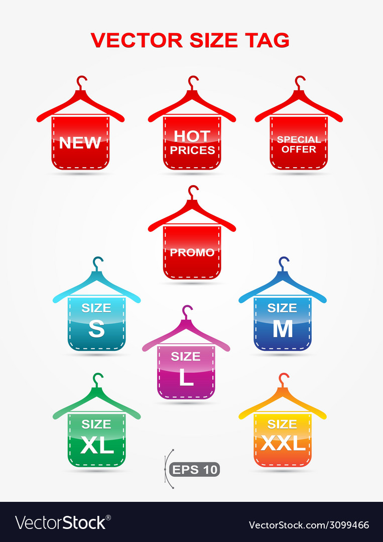 Icon size hangers form vector | Price: 1 Credit (USD $1)