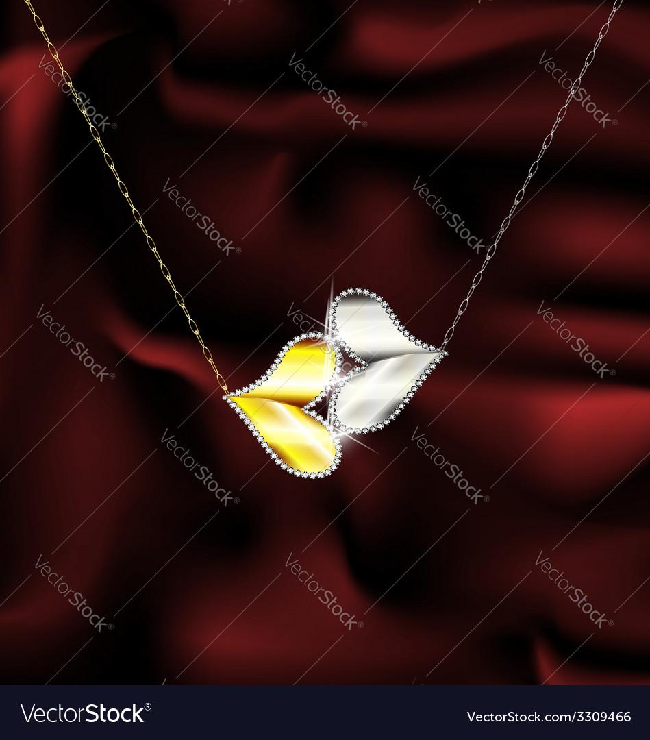 Jewel kiss vector | Price: 1 Credit (USD $1)