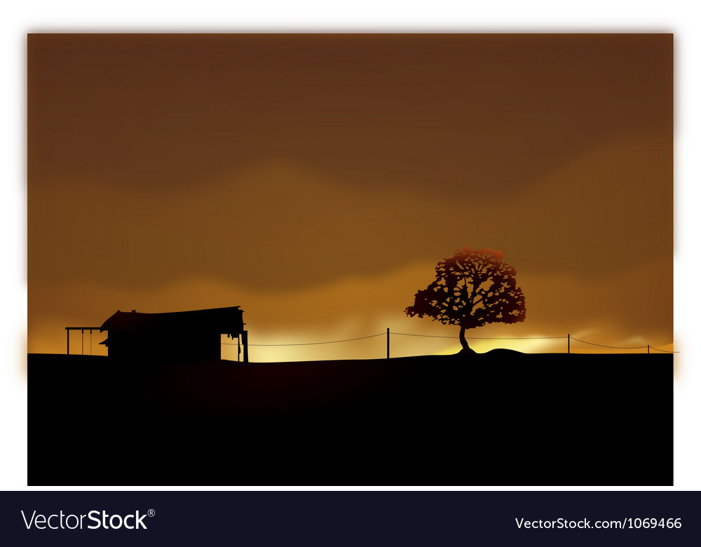 Lonely house vector | Price: 1 Credit (USD $1)