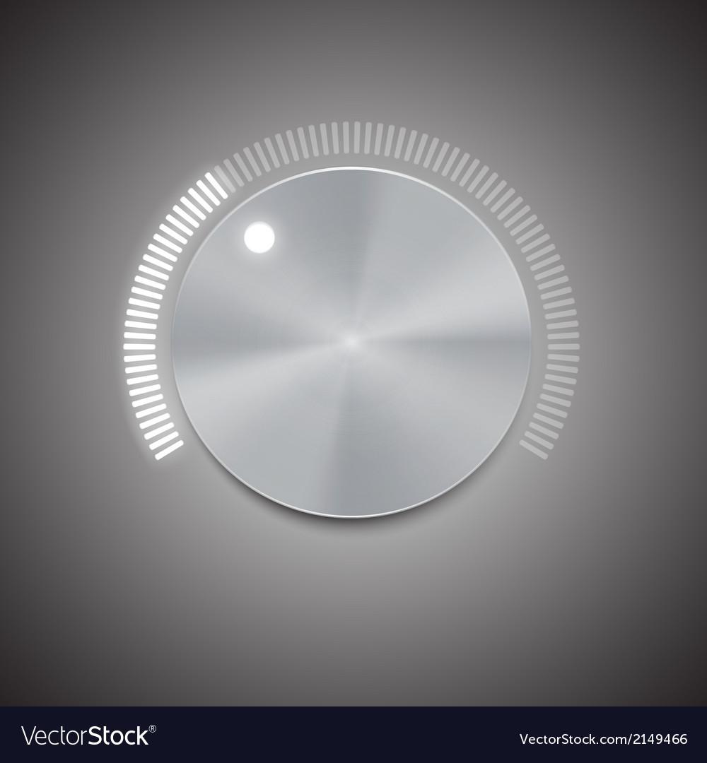 Metal volume button vector | Price: 1 Credit (USD $1)
