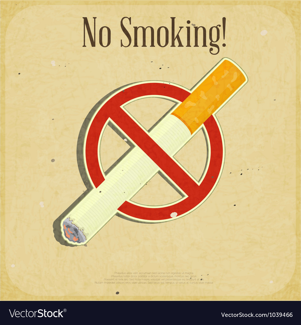 The sign no smoking vector | Price: 1 Credit (USD $1)