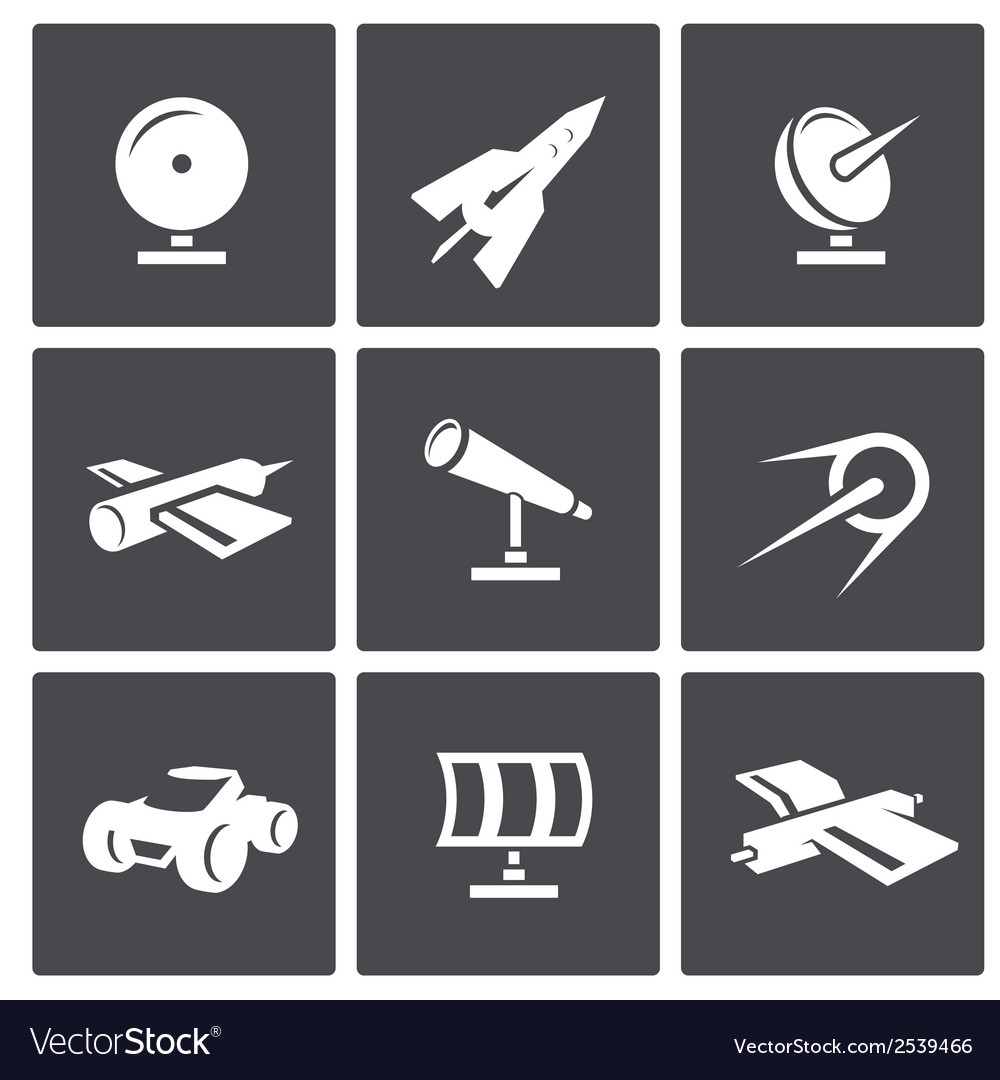 Space icons set vector | Price: 1 Credit (USD $1)
