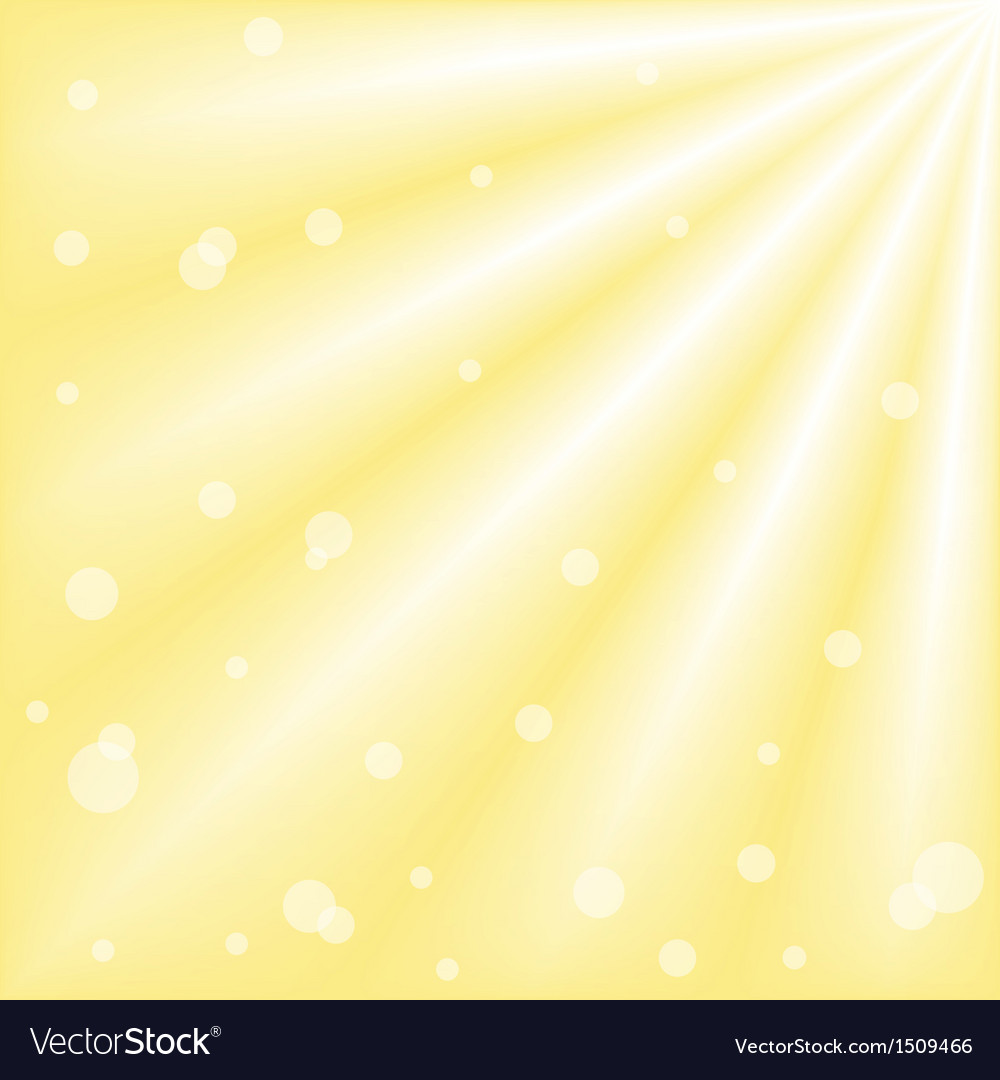 Sun with ray of lights and bokeh vector | Price: 1 Credit (USD $1)